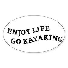Enjoy Life Go Kayaking Decal