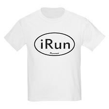 iRun White Oval T-Shirt