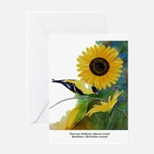 Goldfinch and Sunflower Greeting Card