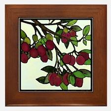 prunus americana: plums Framed Tile