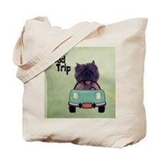 Cairn Terrier Road Trip Tote Bag