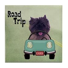 Cairn Terrier Road Trip Tile Coaster