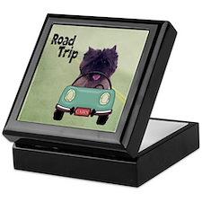 Cairn Terrier Road Trip Keepsake Box