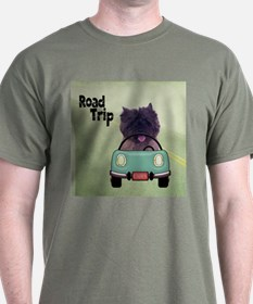 Cairn Terrier Road Trip T-Shirt