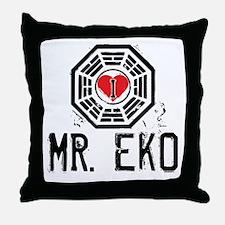 I Heart Mr. Eko - LOST Throw Pillow