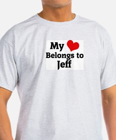 My Heart: Jeff Ash Grey T-Shirt