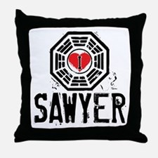 I Heart Sawyer - LOST Throw Pillow