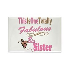 Totally Fabulous Big Sister Rectangle Magnet