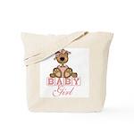 Baby Girl Teddy Bear Tote Bag