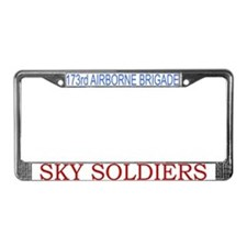 173rd ABN BDE License Plate Frame