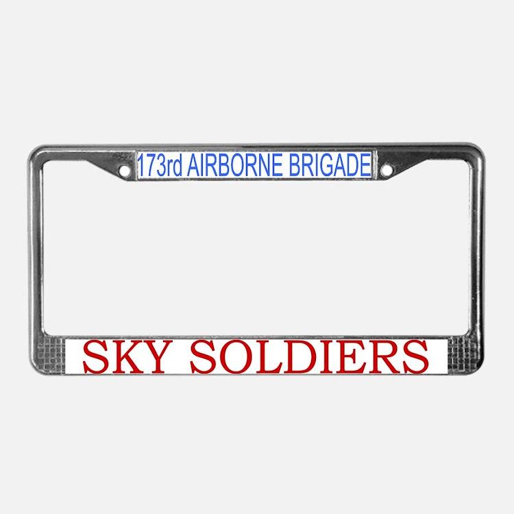173rd ABN BDE License Plate Frame