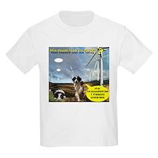 Kids Tshirt Anti Windfarm Border Collies Welsh