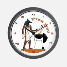 Fire Dog Wall Clock