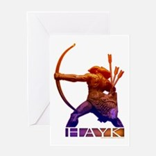 Hayk the Hero Greeting Card