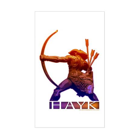 Hayk the Hero Sticker (Rectangle)