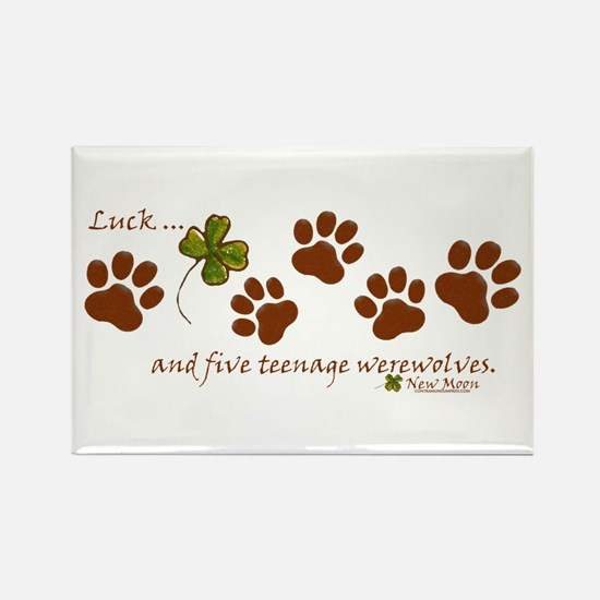 Werewolf Luck Rectangle Magnet