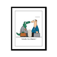 Litigator Framed Panel Print