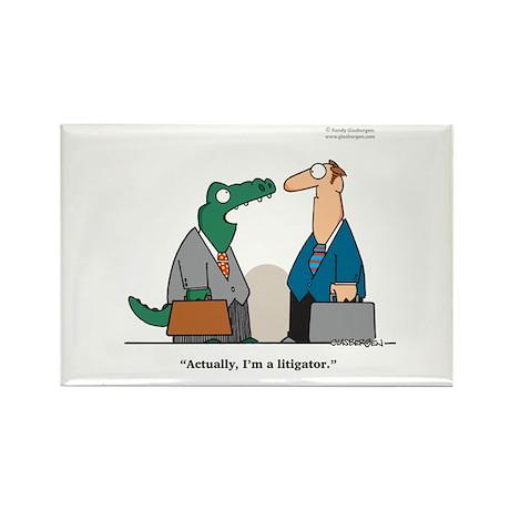 Litigator Rectangle Magnet