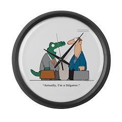 Litigator Large Wall Clock