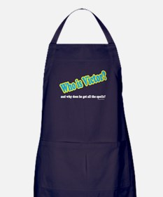 Who Is Victor? Apron (dark)