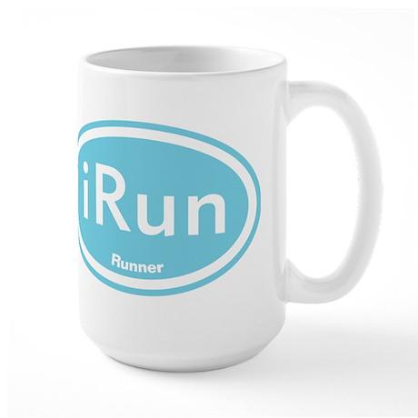 iRun Blue Oval Large Mug