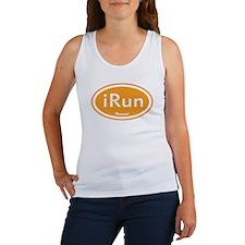 iRun Orange Oval Women's Tank Top