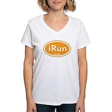 iRun Orange Oval Shirt