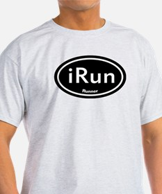 iRun Black Oval T-Shirt