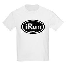 iRun Black Oval T-Shirt