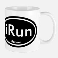 iRun Black Oval Mug