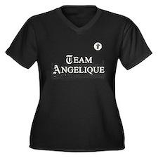 Team Angelique B&W Women's Plus Size V-Neck Dark T