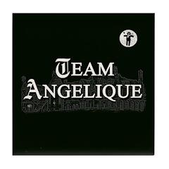 Team Angelique B&W Tile Coaster