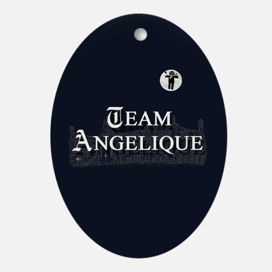 Team Angelique B&W Ornament (Oval)