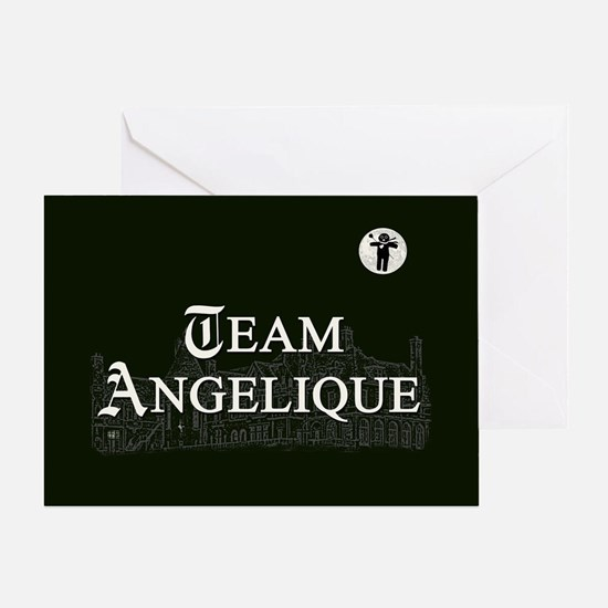 Team Angelique B&W Greeting Card
