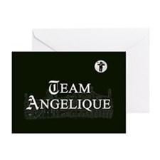 Team Angelique B&W Greeting Cards (Pk of 20)