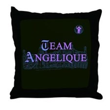 Team Angelique Color Throw Pillow