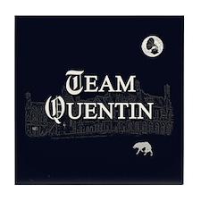 Team Quentin B&W Tile Coaster