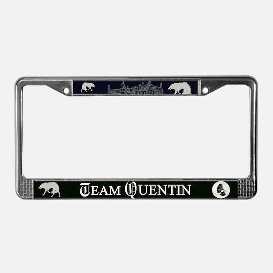 Team Quentin B&W License Plate Frame