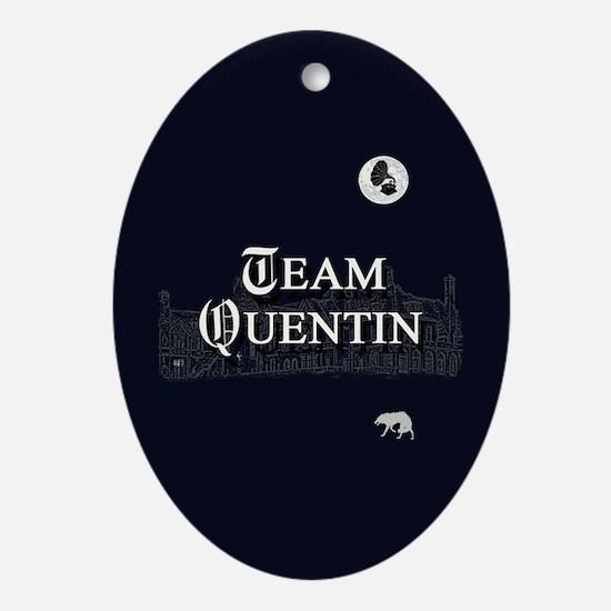 Team Quentin B&W Ornament (Oval)