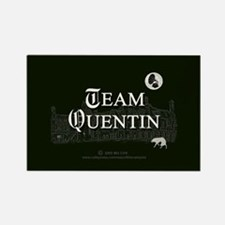 Team Quentin B&W Rectangle Magnet