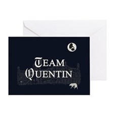 Team Quentin B&W Greeting Card