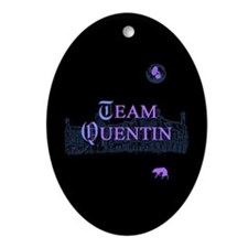 Team Quentin Color Ornament (Oval)