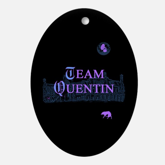 Team Quentin Color Ornament (Oval)