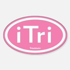 iTri Pink Oval Sticker (Oval)