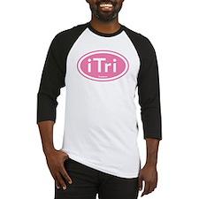 iTri Pink Oval Baseball Jersey