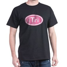 iTri Pink Oval T-Shirt