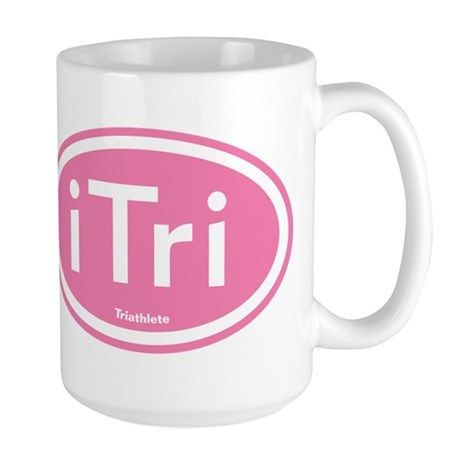 iTri Pink Oval Large Mug