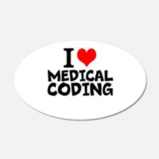 I Love Medical Coding Wall Decal