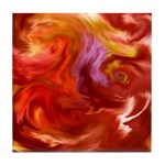 Bristol Abstract Red Tile Coaster