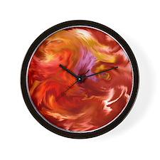 Bristol Abstract Red Wall Clock